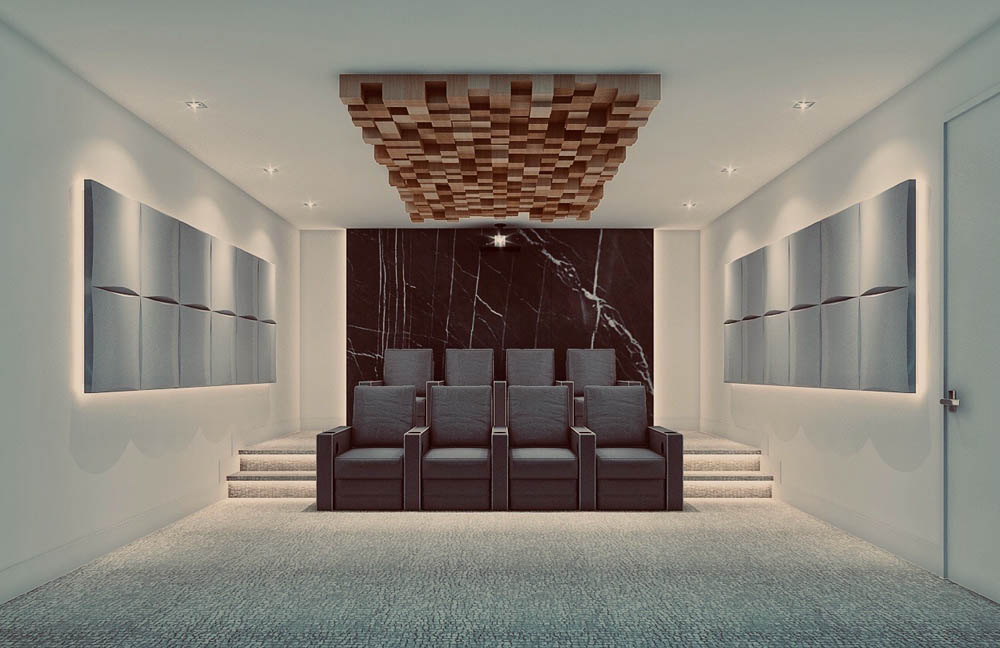 Carlaw Ave Custom Home Theater Designs and Plans