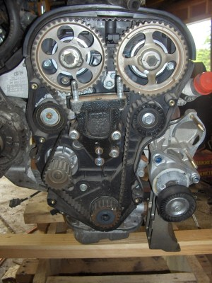 2005 Aveo 5spd sedan  timing belt broke  being repaired