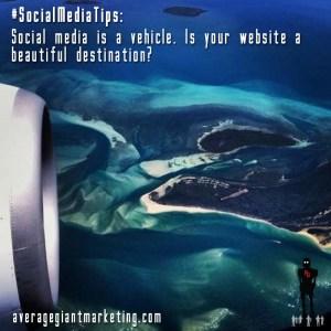 Social media tips destination