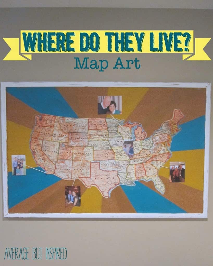 Where Do They Live   Creative Map Art Enter this United States map art that shows them where they  and people in  our extended family  live