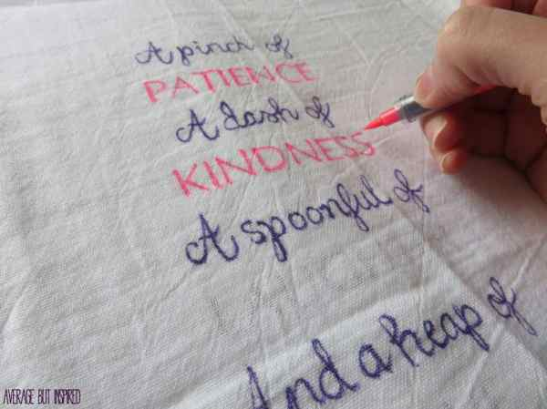 A Mother's Day Craft {Fingerprint Tea Towel}