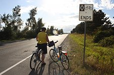 This sign in Richmond just says Cycle Routes Ends. At this point, should we just fly?