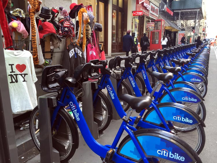 The Citibike Bike Share program in New York is also doing well - and most people don't bother with bike helmets