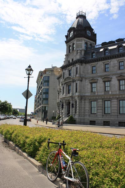 We rented a couple of bikes to cycle along the Lachine Canal bike trail in Montreal