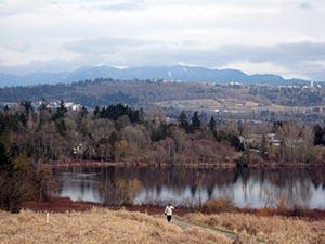 Deer Lake Park Bike Trails in Burnaby, BC, Canada