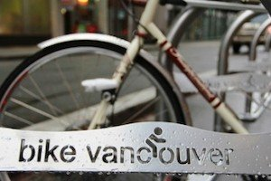 One of Paul Krueger's great photos, taken on the new Hornby route - Vancouver Cycling Culture