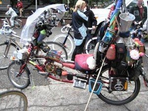 You can see many interesting bikes at the monthly Critical Mass Rides in Vancouver - Vancouver Cycling Culture