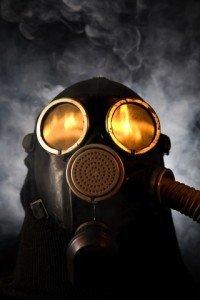 BP oil spill - gas mask