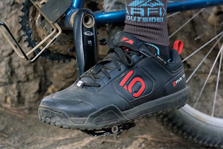 Mountain bikers were the first cyclists to embrace Five Ten cycling shoes