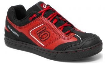 Five Ten cycling shoes are available in range of eye-catching designs. These red ones are my favorite!
