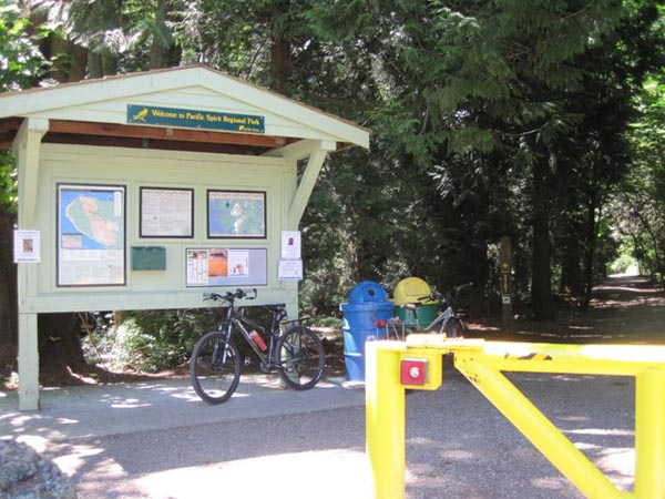 There are many access points to the Pacific Spirit Park Trails - and if you are lucky, there will be maps available as well