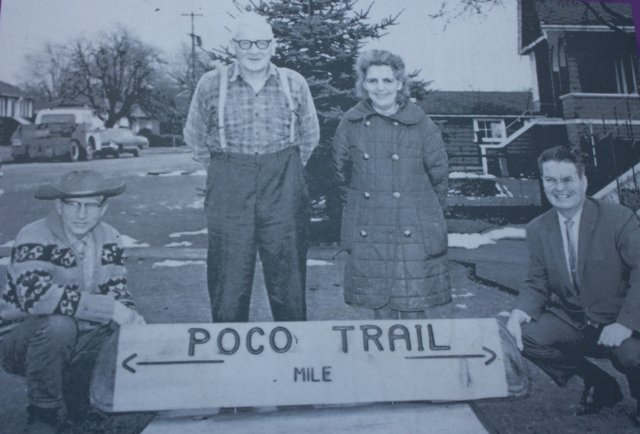 Informative signposts along the Poco Trail offer a history of the area
