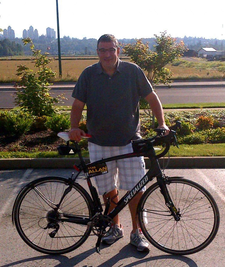 Al with his bike - Al's an average guy with a huge (and now very healthy) heart