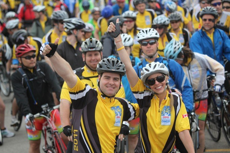 Nothing feels better than completing a challenging charity ride!