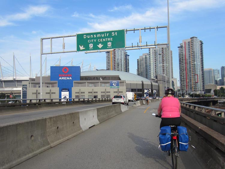 Approaching Vancouver, I am one proud bike commuter!