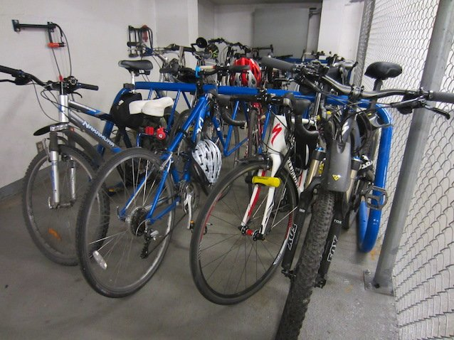 I was lucky enough to have safe bike parking right in my office building