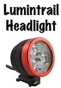 Review of the brightest bike light I have tried - the Lumintrail headlight, for your handlebars or your helmet - bike safety