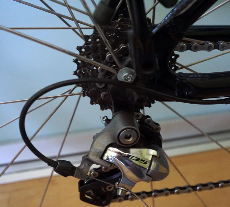 Panasonic BH Race bike rear Shimano 105 derailleur