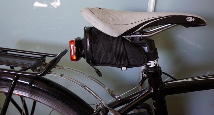 Panasonic BH Race bike seat and saddle bag