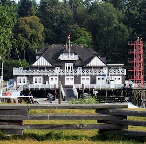 Vancouver Rowing Club, which you can see from the Sea Side Bike Route