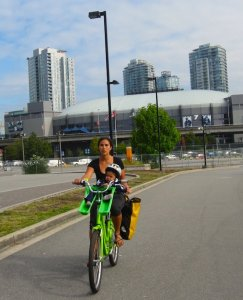 BC Place on the Seaside Bike Route - Average Joe Cyclist