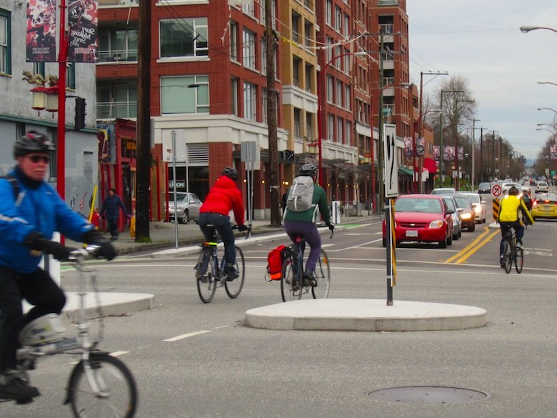 """ReplaceBikewithCar - This photo shows Phase 2 of the struggle for road space, as cyclists attempt to take back control of slim slivers of the roads from people in """"stinkwagons"""""""