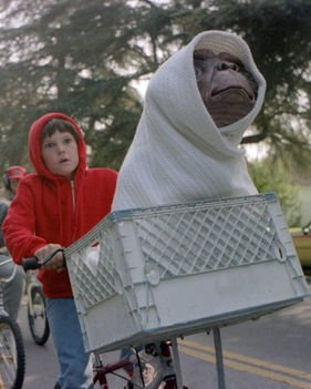 I don't have an extra-terrestrial in my front basket