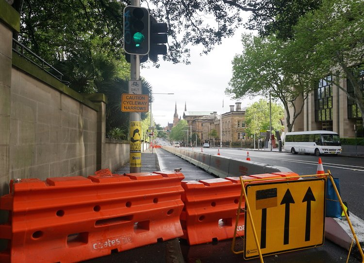 Sydney Cycling - College Street Cycleway still closed down