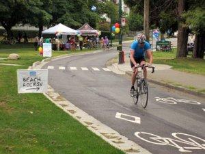 Seaside Greenway Separate Bike Lane - Average Joe Cyclist