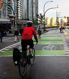Bike Commuters at Stadium-Average Joe Cyclist