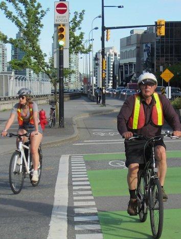 Bike commuters Vancouver
