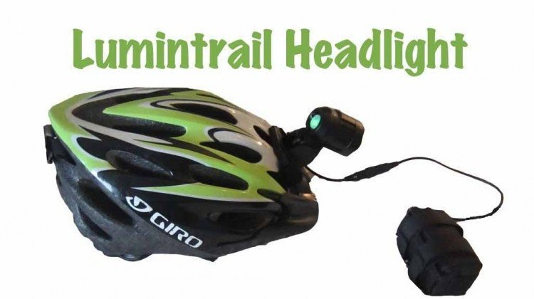 The Lumintrail headlight can be attached to your helmet or your handlebars