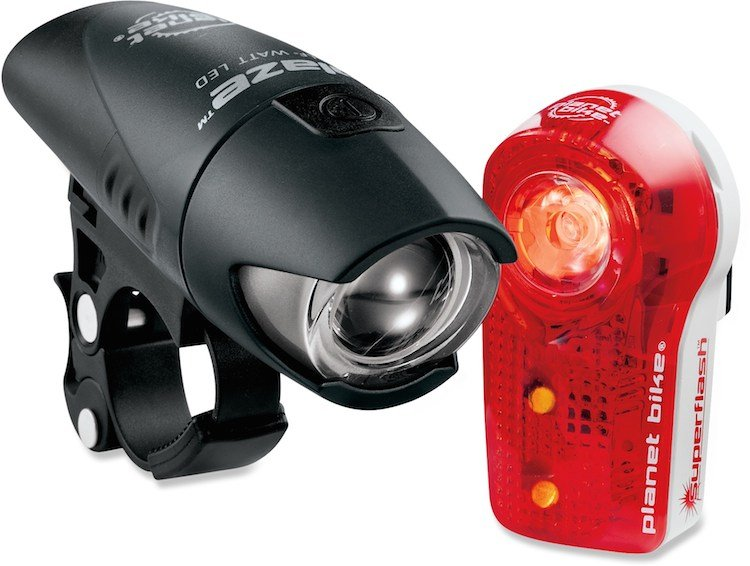 It is essential to have good bike lights on the front and the back of your bike
