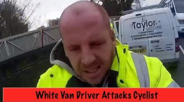 Van Driver Knocks a Cyclist Over and Then Assaults Him – Watch the Viral Video