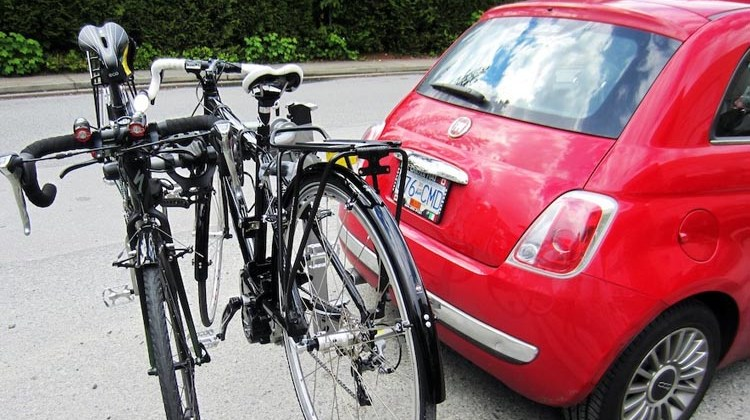 Specialized Tricross on the back of our Fiat 500