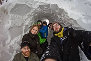 Intrepid snow tunnelers in Boston facilitate active transportation