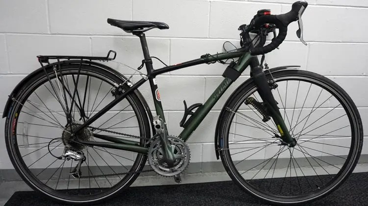 My own Specialized TriCross, set up to be an ideal commuter bike, with lights, rack, fenders, rear view mirror and bell. 10 tips for bike commuting