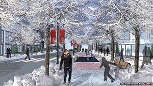 Edmonton's proposed freezeway for active transportation