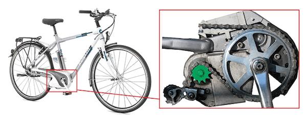 Pedelec crank drive motor