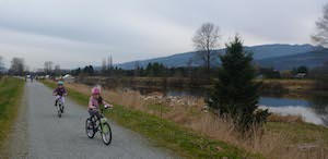 The Osprey Loop dog friendly trail is a great place for kids to develop their cycling skills