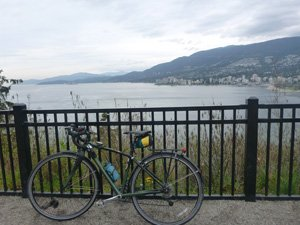 Vancouver cycling - Stanley Park - Prospect Point Bike Trail in Stanley Park, Vancouver