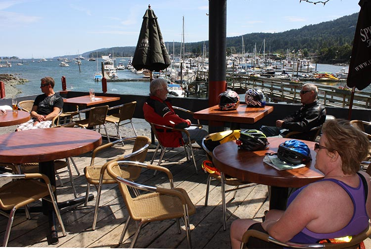 It's a special experience to have lunch right on Sooke Basin! The Galloping Goose Trail gets you there.