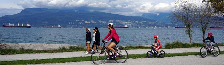 The terrain in this picture is perfect for bike training – it's quiet and almost flat, with a little bit of undulating to get your heart rate up. This is the Seaside Bike Route in Vancouver Average Joe cyclist beginner cyclist training plan