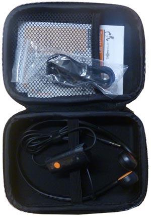 Open case for Aftershokz headphones. Aftershokz Sportz review