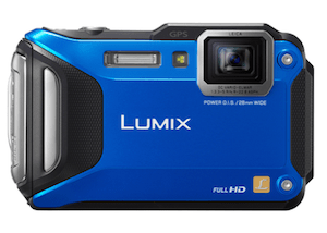 The Lumix DMC-TS5 underwater camera withstands extreme heat and extreme cold, and just keeps looking cool blue