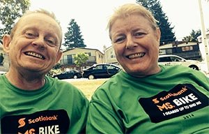 Me and Joe after the MS Bike Charity Ride 2014