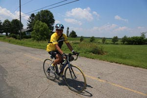 Michelle in the Ride to Conquer Cancer in Quebec in 2013