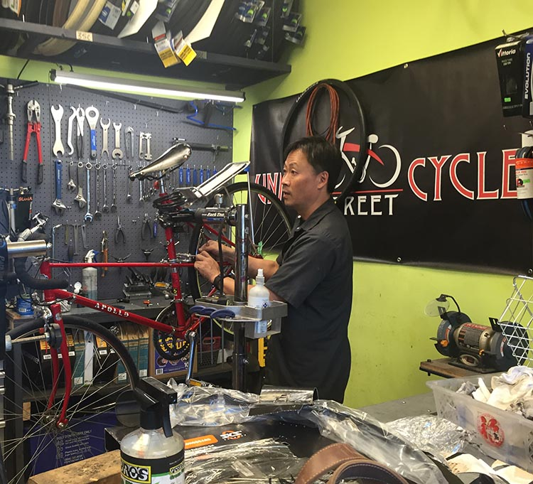 Stop off at Union Street Cycles to get some great local bike shop service from a friendly team, led by Bob (pictured). Just one of the businesses that is situated right on a separated bike lane, positioned to do well as more and more people take to their bikes to get around.
