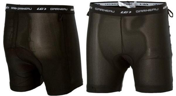 Front and back view of the shorts that are worn under the Louis Garneau cycling skort
