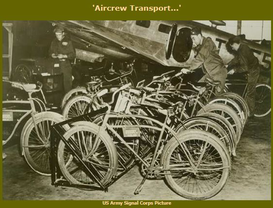 Bikes were used to transport flight crews and mechanics to and from aircraft during World War II. Bikes in history - Memorial Day